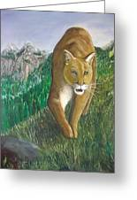 Walk On The Wildside Greeting Card by Peter Edward Green
