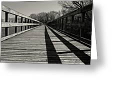 Walking The Lines Greeting Card