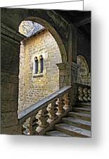 Walking Through A French Castle Greeting Card