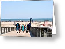 Walking To The Beach Greeting Card
