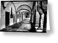 Walkway To Chapel Greeting Card