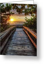 walkway to Paradise Greeting Card
