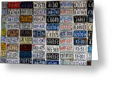 Wall Of License Plates Greeting Card