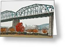Walnut Street Bridge Greeting Card by Tom and Pat Cory