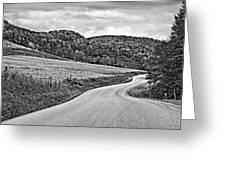Wandering In West Virginia Monochrome Greeting Card