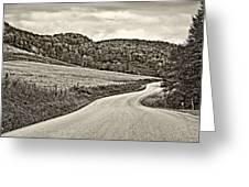 Wandering In West Virginia Sepia Greeting Card