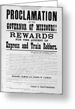 Wanted Poster, 1881 Greeting Card