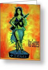 War Goddess Greeting Card