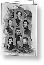 War Of 1812: Generals Greeting Card