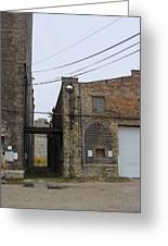 Warehouse Beams And Drain Pipe Greeting Card