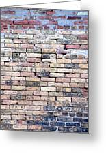 Warehouse Brick Wall Greeting Card