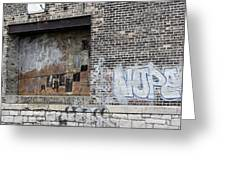 Warehouse Grafitti 2 Greeting Card