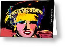 Warhollage 2d Greeting Card