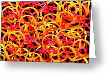 Warm Color Rings Greeting Card