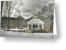 Warm Gazebo On A Cold Day Greeting Card
