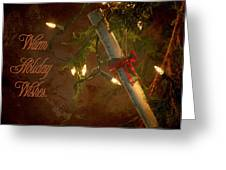 Warm Holiday Wishes. Greeting Card