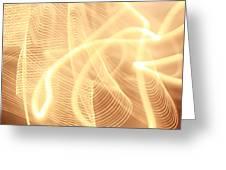 Warm Strings Of Glowing Light Greeting Card