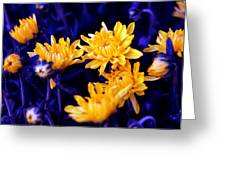 Warm Yellow In A Sea Of Blue Greeting Card