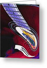 Warped Music Greeting Card by Steve Ohlsen