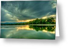 Warren Lake At Sunset Greeting Card