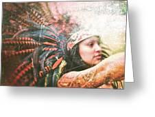 Warrior Dance Greeting Card