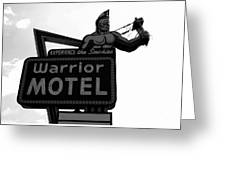 Warrior Motel Greeting Card