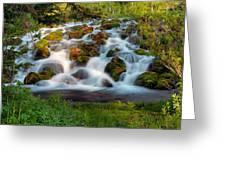 Wasatch Range Cascade Greeting Card