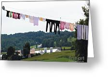 Wash Day Greeting Card by Lorraine Louwerse