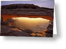 Washer Woman Arch Seen Through Mesa Greeting Card