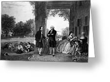 Washington And Lafayette, Mount Vernon Greeting Card