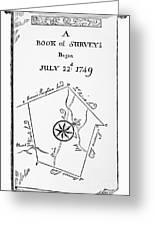Washington: Book Of Surveys Greeting Card