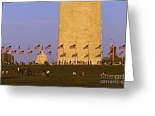 Washington Dc Sunset Greeting Card