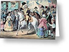 Washington Enters New York City After Greeting Card