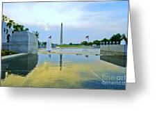 Washington Monument And The World War II Memorial Greeting Card