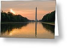 Washington Monument At Dawn Greeting Card