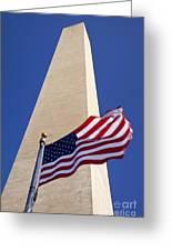 Washington Monument Flag Greeting Card