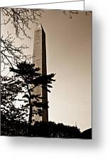 Washington Monument In Sepia Greeting Card