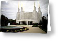 Washington Temple Greeting Card