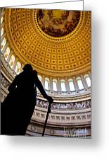 Washington Under Capitol Dome Greeting Card