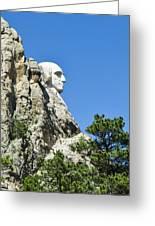 Washinton On Mt Rushmore Greeting Card