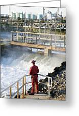 Waste Water Monitoring Greeting Card by Paul Rapson