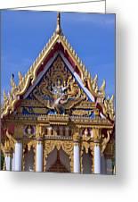 Wat Chai Mongkol Ubosot Gable Dthu609 Greeting Card