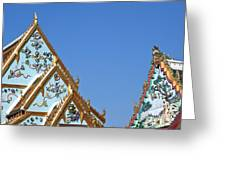 Wat Chamni Hatthakan Gables Dthb934 Greeting Card