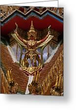 Wat Hua Lamphong Ubosot Roof Garuda Dthb1065 Greeting Card