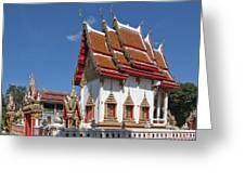 Wat Huai Phai Ubosot And Compound Dthu096 Greeting Card