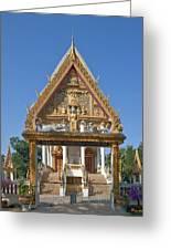 Wat Kan Luang Ubosot Gate Dthu181 Greeting Card