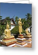 Wat Mai Buddhas Greeting Card