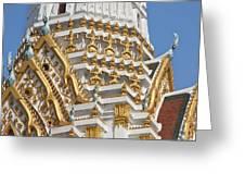 Wat Phitchaya Yatikaram Central Prang Dthb1191 Greeting Card