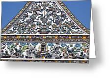 Wat Ratcha Orasaram Ubosot Gable Detail Dthb428 Greeting Card