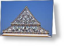 Wat Ratcha Orasaram Ubosot Gable Dthb427 Greeting Card